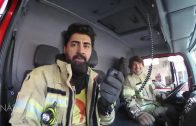 کارگردان و صداپیشه دیریندیرین در ایستگاه آتشنشانی
